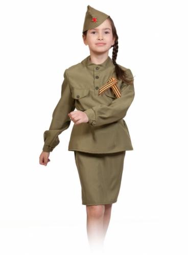 Карнавальный костюм Солдаточка, 5-7 лет