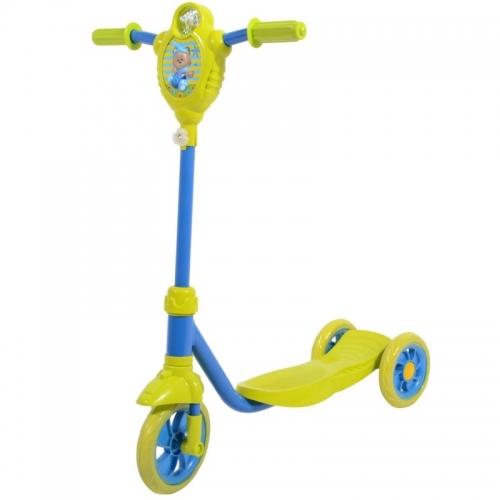 Самокат Novatrack Foxx Baby PU, желто-синий