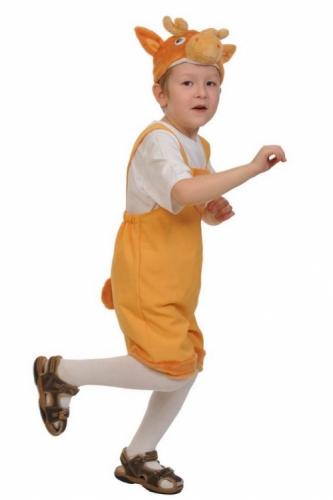 Карнавальный костюм Оленёнок ткань-плюш (полукомбинезон, маска) 3-6 лет