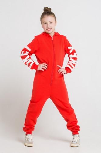 Комбинезон для девочек, Сrockid ярко-красный, размер 98