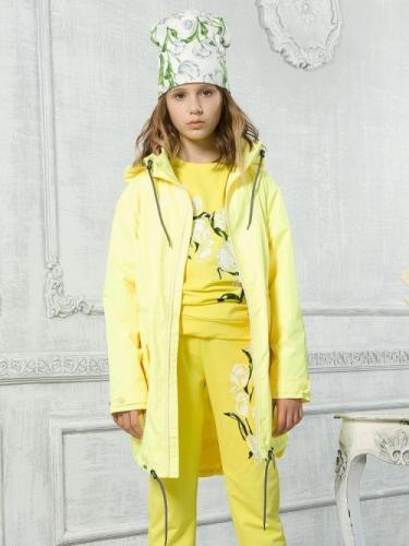 Ветровка для девочек, размер 10, желтая Pelican