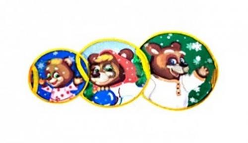 Набор ледянок Метиз Три медведя (ф40см, ф50см, ф60см)