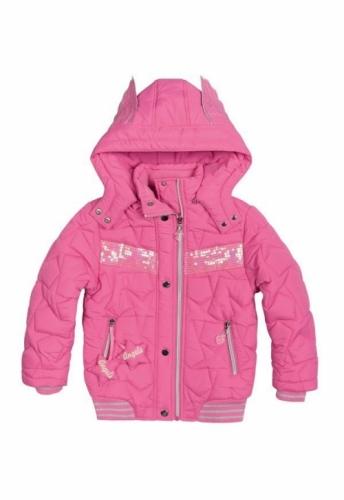 Куртка для девочек, размер 11, демисезонная, розовая Pelican GZWL484