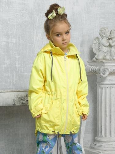 Ветровка для девочек, размер 4, желтая Pelican