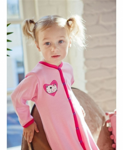 Комбинезон Lucky Child LOVE (арт. А6-103/розовый),размер 20 (62-68)