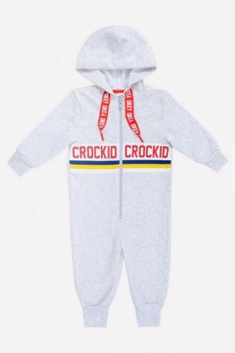 Комбинезон Сrockid светло-серый меланж, размер 116