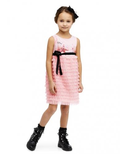 Платье для девочки, размер 6-7 (122-64) светло-розовое, Bellbimbo 190049