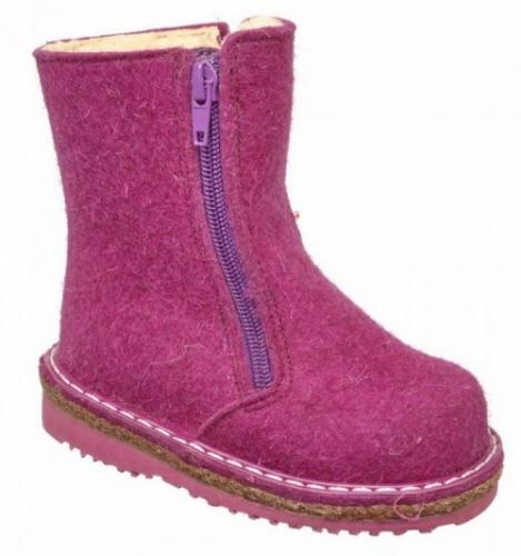 Валенки Фома для девочки, артикул 236-096-17, размер 24 (150 мм) фиолетовый
