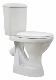 Унитаз-компакт Оскольская Керамика Персона Комфорт с откидным поручнем косой выпуск нижний подвод белый