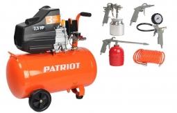 Компрессор Patriot Euro 50-260K + набор пневмоин-та KIT 5B 260 л./мин.