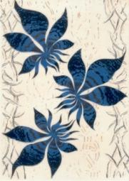 Декор Береза-керамика Магия фантазия синий 25х35
