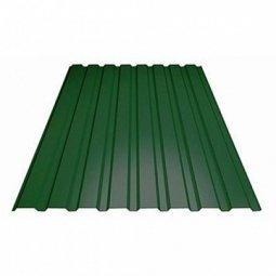 Профнастил С-21 (RAL 6005) зеленый мох 1000х2000х0.5