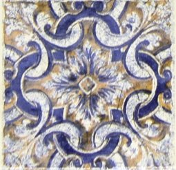 Вставка Сокол Майолика D707-7 орнамент матовая 8х8