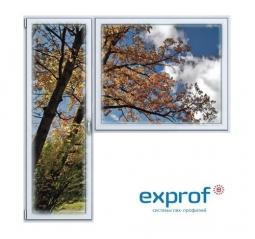 Балконный блок ПВХ Exprof 2100х2100 мм 1-Г 3 стеклопакет