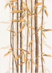 Декор Береза-керамика Ретро бамбук 2 коричневый 25х35