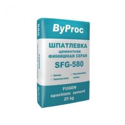 Шпатлевка ByProc SFF-580 финишная цементная серая 25 кг