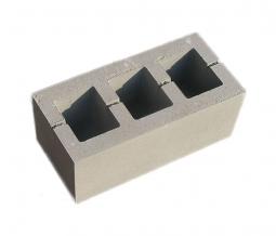 Блок железобетонный  вентиляционный 400х200х200 3 отверстия