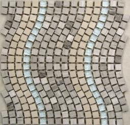 Мозаика Bonаparte Stone wave бежевая матовая 30.5х30.5