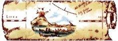 Бордюр Сокол Остров сокровищ орнамент матовый 622-2 7х20