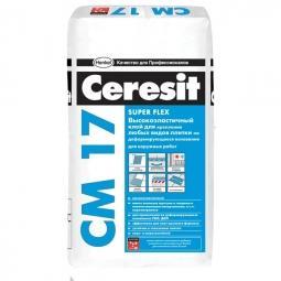 Клей Ceresit СМ17 высокоэластичный для керамической плитки 25 кг