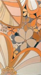 Панно Lasselsberger Камила цветы оранжевое (комплект 4 шт) 19,8х39,8