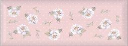 Плитка для стен Kerama Marazzi Веджвуд Цветы 15032 15х40 розовый грань