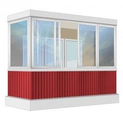 Остекление балкона Алюминиевое Provedal 3.2 м Г-образное
