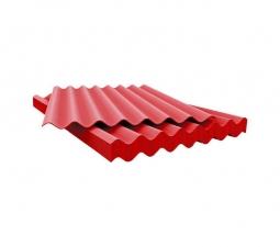 Шифер кровельный 7-волновой 1750х980х5.2мм, красный