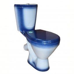 Унитаз-компакт Rosa Элегант косой выпуск нижний подвод синий