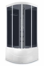 Душевая кабина Domani Spa Light 88 high 800х800х2180 тонированное стекло, черная панель