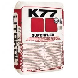 Клей Litokol SUPERFLEX K77 для керамогранита для наружных и внутренних работ 25 кг