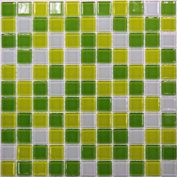 Мозаика Bonаparte Fresh зеленая глянцевая 30x30