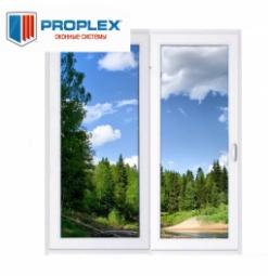 Окно раздвижное PROPLEX 2100x2000 двухстворчатое ПР800/ЛГ1200 2 стеклопакет