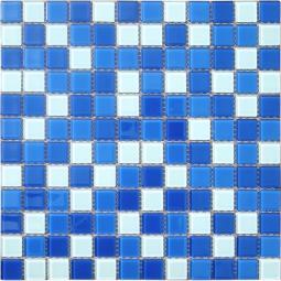 Мозаика Elada Crystal CB021 бело-синий 32.7x32.7