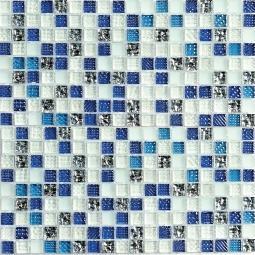 Мозаика Bonаparte Milky Way голубая глянцевая 30x30