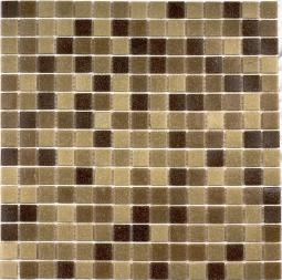 Мозаика Bonаparte Aqua 300 (на бумаге) коричневая матовая 32.7х32.7
