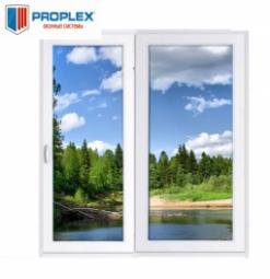 Окно раздвижное PROPLEX 2100x2000 двухстворчатое ЛР800/ПГ1200 2 стеклопакет