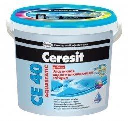 Затирка Ceresit СЕ 40 Aquastatic для швов до 10 мм эластичная водоотталкивающая противогрибковая лаванда (2кг)