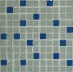 Растяжка Bonаparte Jump Blue №1 (dark) голубая глянцевая 30x30