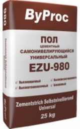 Цементный пол ByProc самонивелирующийся универсальный EZU-980 25 кг