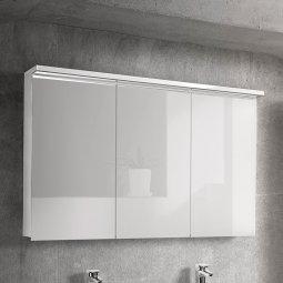 Шкаф-зеркало Dreja Астон-120 3Д белый