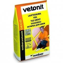 Затирка Weber.Vetonit Deco для швов до 8 мм светло-серый №11 (2кг)