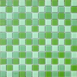 Мозаика Elada Crystal CB011 зеленый микс 32.7x32.7