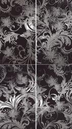 Панно Lasselsberger Азур черное (комплект 4 шт) 50х90