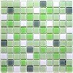 Мозаика Bonаparte Soft mix зеленая глянцевая 30x30