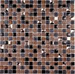 Мозаика Bonаparte Crystal brown коричневая глянцевая 30x30