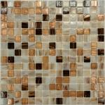 Мозаика Bonаparte STEP-1 бежевая глянцевая 32.7х32.7