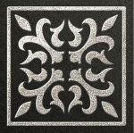 Декор Freelite Универсальные вставки для пола Палермо Черный серебро 6x6
