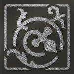 Декор Freelite Универсальные вставки для пола Брест Черный серебро 6x6